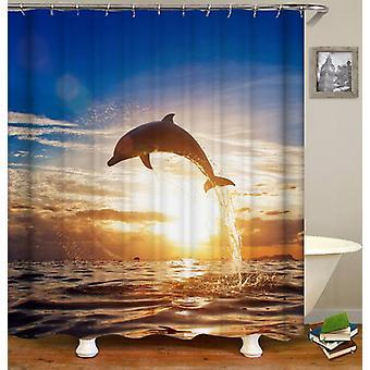A Dolphin Jump Shower Curtain