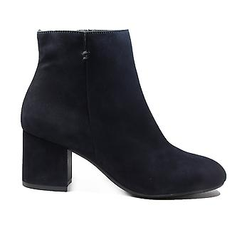 Paul Green 8997-02 Blue Suede Leather Womens Heeled Ankle Boots