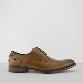 Azor Salermo Mens Leather Derby Shoes Brown