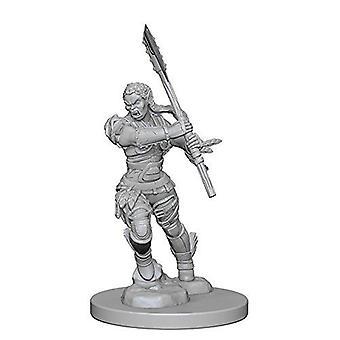 Pathfinder Deep Cuts Unpainted Miniatures Half-Orc Female Barbarian (Pack of 6)