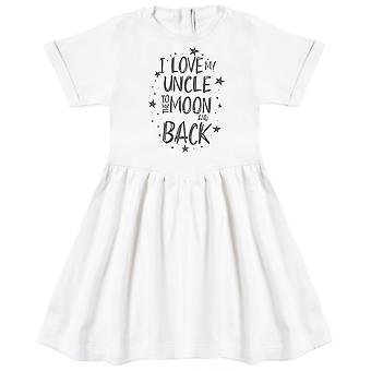 I Love My Uncle To The Moon And Back Baby Dress