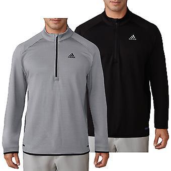 adidas Golf Mens Climaheat Gridded 1/4 Zip Pullover Sweater adidas Golf Mens Climaheat Gridded 1/4 Zip Pullover Sweater