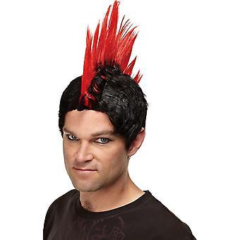 Röd peruk för Punk Rocker