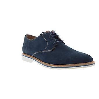 Clarks Atticus blonder menns blå nubuck casual Lace up Oxfords sko