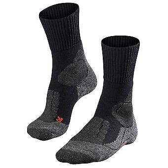 Falke trekking 1 ekstra styrke sokker-sort mix