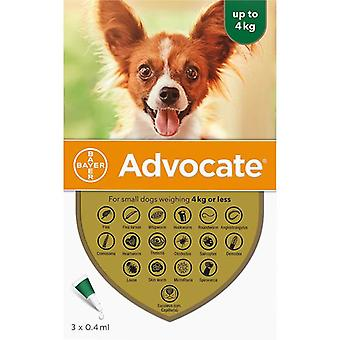 Advocate Dogs Under 4kg (8.8lbs) - 3 Pack