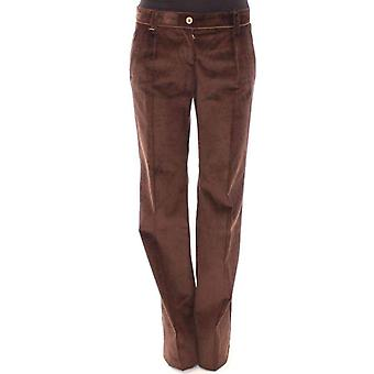 Dolce & Gabbana Brown Corduroys Boot Cut Logo Casual Pants -- MOM1931973