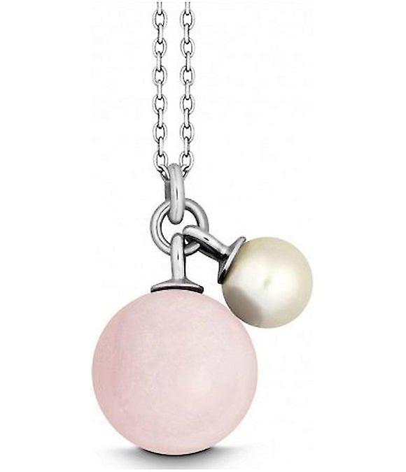 QUINN - Halskette - Silber - Edelstein - Rosa Quarz - Süßwasser - 27601930