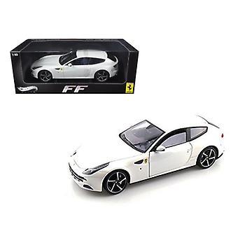 Ferrari FF V12 4 Seater Pearl White Elite Edition 1/18 Diecast Car Model by Hotwheels