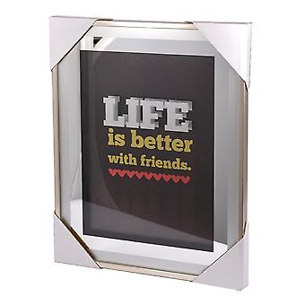 Xpressions 4 U Classy & Fab Silver Frame Life Is