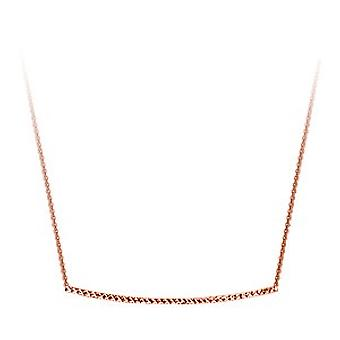 14k Rose Gold Side ways Sparkle Cut Bar Adjustable Necklace 18 Inch Jewelry Gifts for Women
