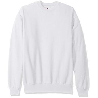Hanes Men's EcoSmart Fleece Sweatshirt, White, Small, White, Size Small