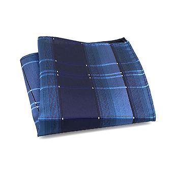 البحرية الزرقاء tartan نمط شريط جيب مربع hanky