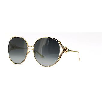 Gucci GG0225S 001 Gold/Grey Gradient Sunglasses