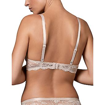 Nipplex Women-apos;s Pia Cappuccino Beige Spotted Lace Padded Underwired Push Up Soutien