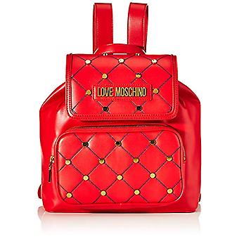 Love Moschino Jc4096pp1a Red Women's Backpack Bag (Rouge) 15x27x33cm (W x H x L)