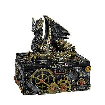 Salainen lohikäärme koriste Steampunk Trinket höyrylaatikolla 6 tuuman