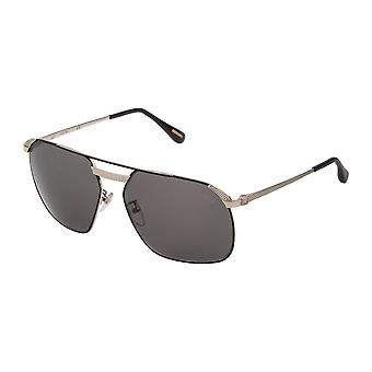 Dunhill SDH140 302P Rose Gold-Black/Polarised Smoke Sunglasses