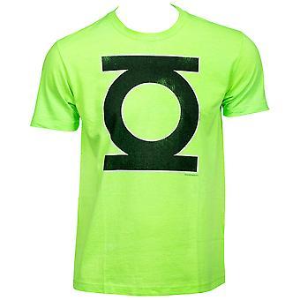 T-shirt vert de néon vert de lanterne verte