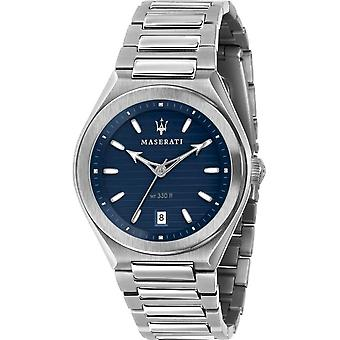 Maserati - Wristwatch - Men - TRICONIC 40mm 3H BLUE DIAL BR SS - R8853139002