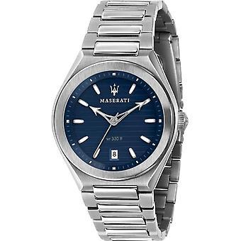 Maserati - Armbandsur - Herrar - TRICONIC 40mm 3H BLUE DIAL BR SS - R8853139002