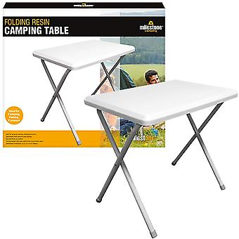 Milestone Resin Foldable Camping Table White