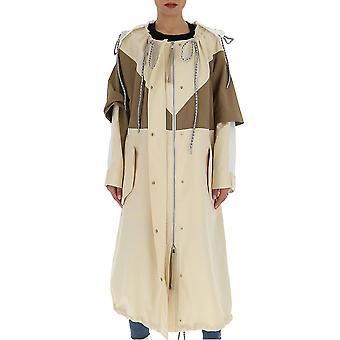 Moncler Genius 1d701c0403080 Women's Beige Nylon Coat