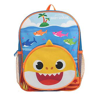 Pinkfong Baby Shark Round Pocket Backpack Blue