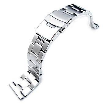 Strapcode ceas brățară 19mm, 20mm, 21mm solid 316l oțel inoxidabil super stridie drept sfârșitul ceas bandă