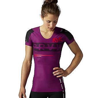Reebok Rcf Compressie SS Top AB4219 crossfit het hele jaar vrouwen t-shirt