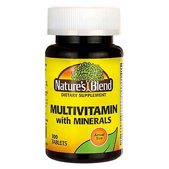 Nature's blend multi-vitamin with mineral, tablets, 100 ea