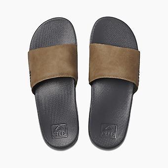 Reef Mens Sandals ~ Reef One Slide grey tan