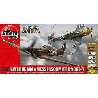 Airfix A50135 Dogfight Duble Supermarine Spitfire MkIa Messerschmitt Bf109E-4 1:72 Model Kit
