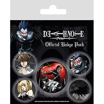 Death Note Characters Pin Button Badges Set
