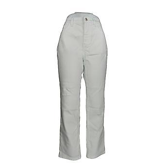 Denim & Co. Damen's Jeans Classic Denim Distressed Skinny White A304475