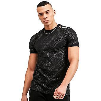 Glorious Gangsta | Linden 7762 Logo Print Half-sleeve T-shirt - Black