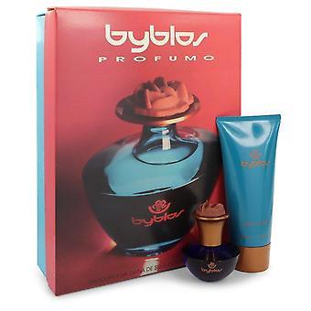 Byblos Gift Set By Byblos 1.68 oz Eau De Parfum Spray + 6.75 Body Lotion