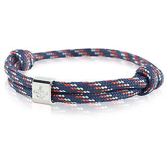 Skipper armbånd surfer band node maritimes armbånd blå/rød/grå 6794