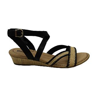 B.O.C Womens Cascade Fabric Open Toe Casual Ankle Strap Sandals