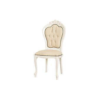 Sedia Dioniso Colore Bianco, Beige in Legno, L55xP50xA107 cm