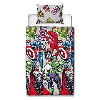 Marvel Avengers Stickers Single Dekbed Cover Set