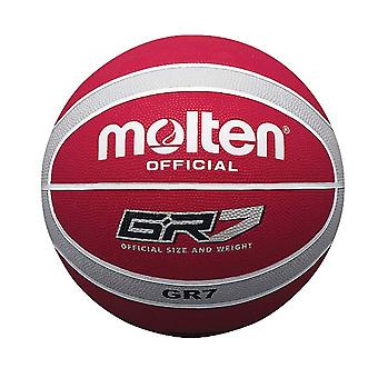 Molten GR7 Indoor Outdoor Rubber Basketball Ball Red/Silver