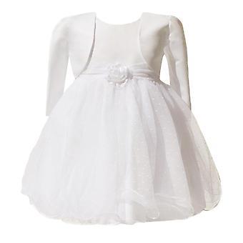 赤ちゃん女の子アイボリー ボレロ結婚式花嫁介添人の洗礼ドレス 0 ~ 24 か月
