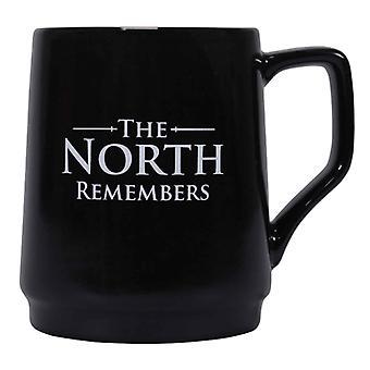 Spel van tronen mok The North onthoudt warmte Changing nieuwe officiële zwart Boxed