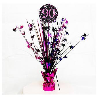 Amscan mousseux rose célébration 90e anniversaire pièce maîtresse Spray