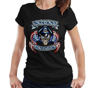 Bon Jovi Forever Skull logo naisten T-paita