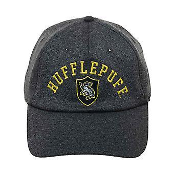 هاري بوتر البيسبول كاب Hufflepuff Collegiate الشعار الرسمي غراي Strapback
