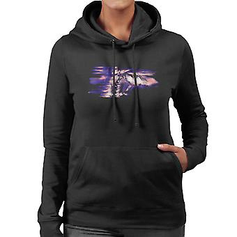 Freddie Mercury Of Queen Its A Hard Life Shoot 1984 Purple Flare Women's Hooded Sweatshirt