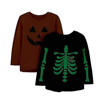 Simple Joys by Carter's Girls' Toddler 2-Pack Halloween Long-Sleeve Tees, Pum...
