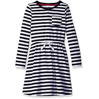 Essentials Big Girls' Long-Sleeve Elastic Waist T-Shirt Dress, evening...